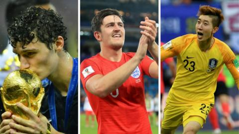 Benjamin Pavard, Harry Maguire and Cho Hyun-woo