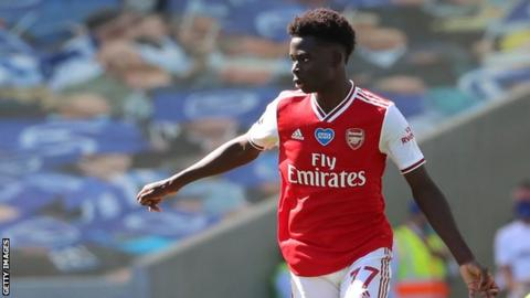 Bukayo Saka signs new Arsenal contract to end uncertainty over youngster's future