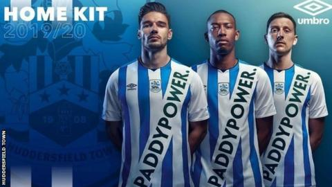 Huddersfield Town unveil new strip bearing Paddy Power sash
