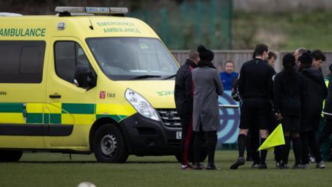 Ambulance at the match