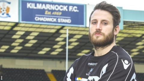 Tommy Seymour poses at Kilmarnock's Rugby Park ground