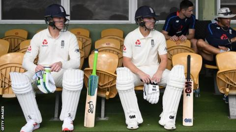 Keaton Jennings and Rory Burns