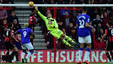 Adam Federici in action for Bournemouth