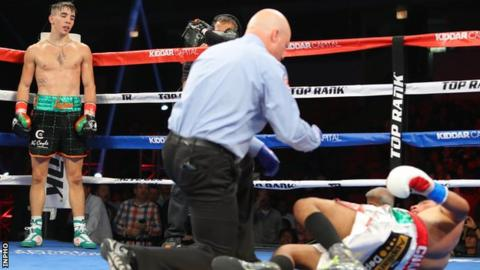 Conlan achieved the first knockdown of his pro career in the first round against Chanez