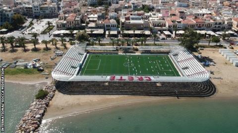 The stadium in Rethymno, Crete