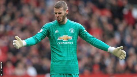 02d71271b6c David de Gea: Man Utd goalkeeper to start against Huddersfield - BBC ...