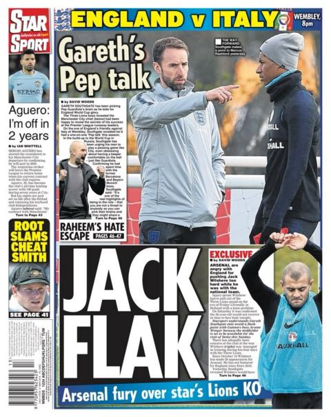 Star back page on Tuesday