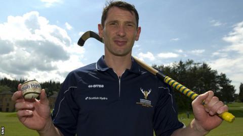 Scotland's men's shinty head coach Ronald Ross MBE