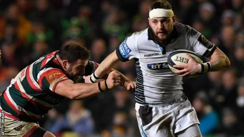 Finn Russell in action against Leicester