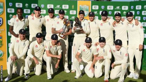 England celebrate a 3-1 series win