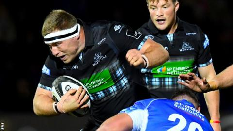 Glasgow Warriors prop Alex Allan