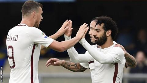 Salah and Dzeko