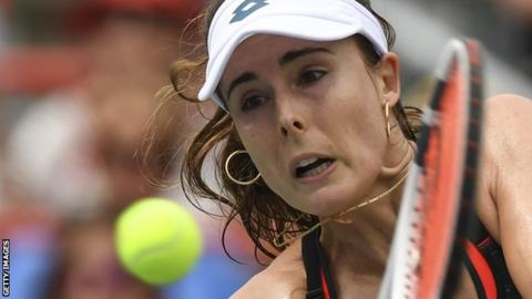 Johanna Konta beaten by Elina Svitolina in Montreal