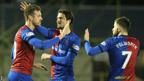 Inverness players celebrate