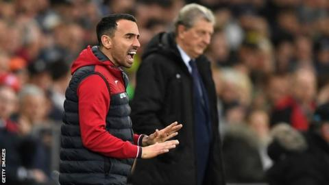 Leon Britton took over as Swansea caretaker-manager for two games in December 2017 following the dismissal of Paul Clement
