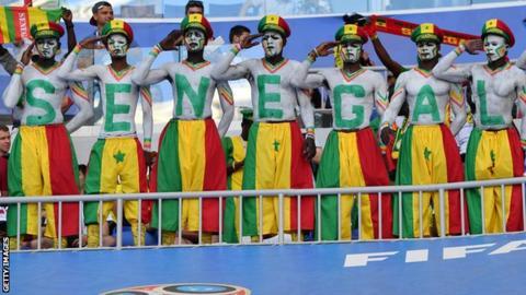Senegal football fans