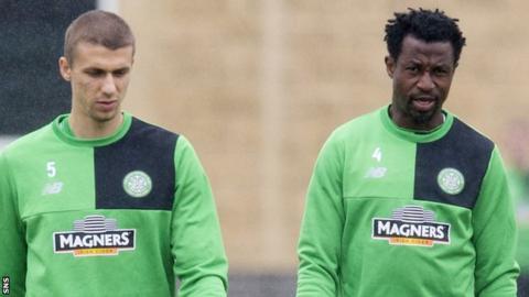 Celtic defenders Jozo Simunovic and Efe Ambrose