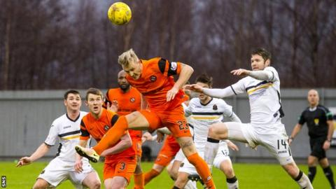 Dumbarton and Dundee United players