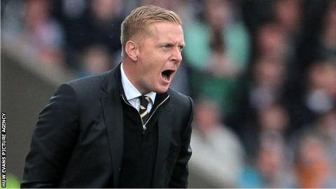 Garry Monk shouts at his players