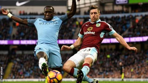 Sagna was booked in the match for an altercation with George Boyd immediately after Burnley's goal
