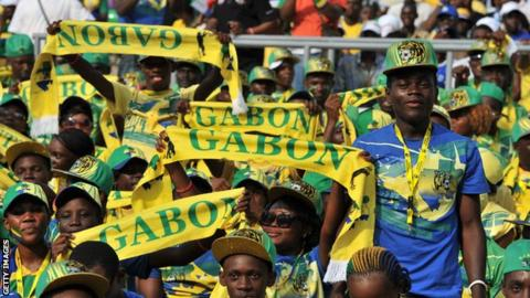 Gabon football fans