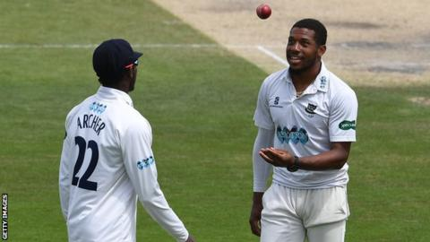 Jofra Archer and Chris Jordan