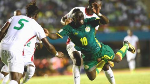 Senegal's Sadio Mane in action against Burkina Faso