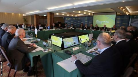 Six votes out of eight are required for a motion to be passed at the AGM of IFAB