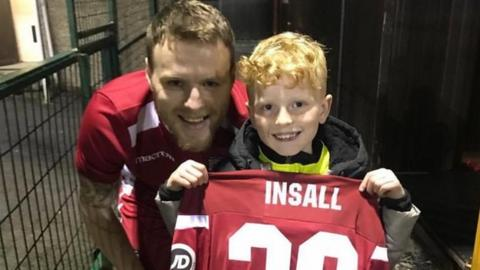 Jamie Insall and son Finley