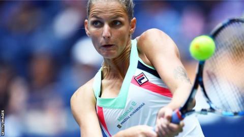 Karolina Pliskova wins her US Open first-round match