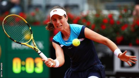 Konta stuns Bertens to reach Italian Open final