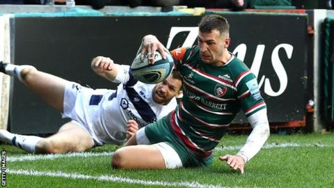 Premiership: Leicester Tigers 31-18 Bristol Bears - May scores twice in Tigers win