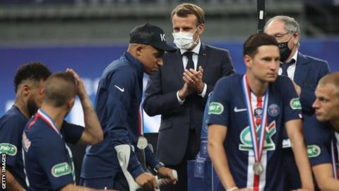PSG's Mbappe out of Champions League quarter-final against Atalanta