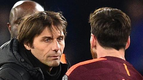 Antonio Conte and Lionel Messi