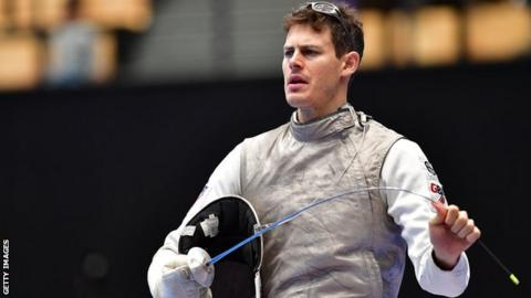 Great Britain men's foil fencer Richard Kruse