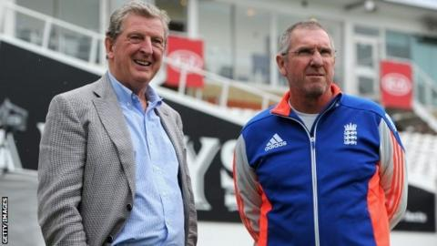 Roy Hodgson watched the England cricket team train at The Oval last week