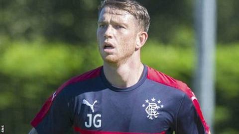 Joe Garner trains with Rangers
