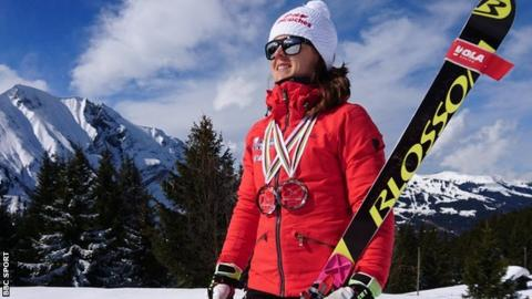 Telemark skier Jasmin Taylor of Great Britain