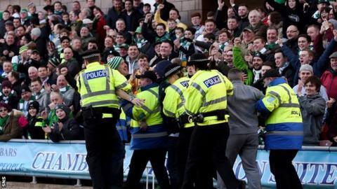 Celtic fans at Tannadice