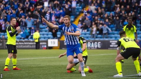Stuart Findlay celebrates scoring