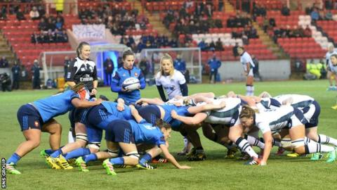 Scotland were troubled by the French scrummaging power all evening
