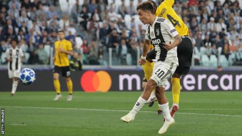 Paulo Dybala scores against Young Boys