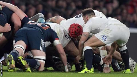 France were beaten by England at Twickenham