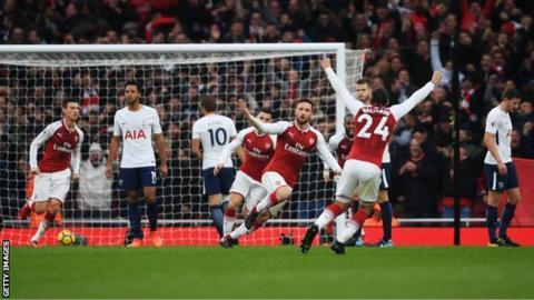 Tottenham and Arsenal