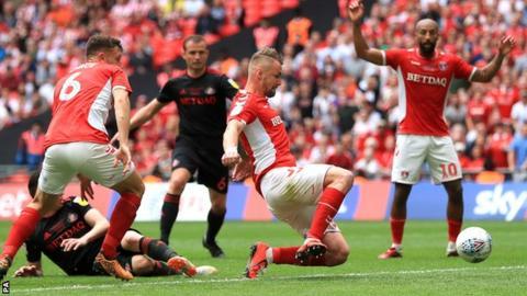 Patrick Bauer scores Charlton's winner