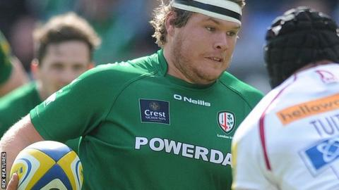 London Irish prop Richard Palframan