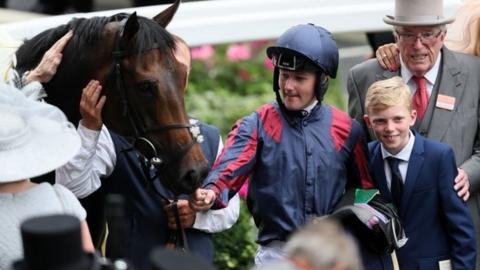 Jockey Tom Queally with The Tin Man