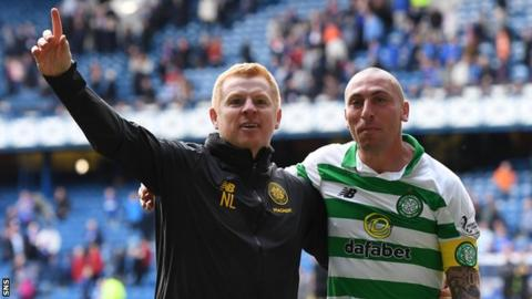 Celtic manager Neil Lennon and captain Scott Brown