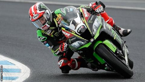 Jonathan Rea in action at the series opener in Phillip Island