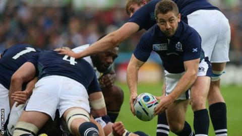 Greig Laidlaw in action for Scotland